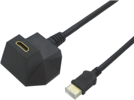 CABLE HDMI  2 M. HDMI HIGH SPEED CON  ETHERNET, MAGNETICO ,  M/H, NEGRO VALUE
